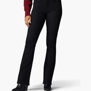 Riders Midrise Plus Size by Lee Black Jeans